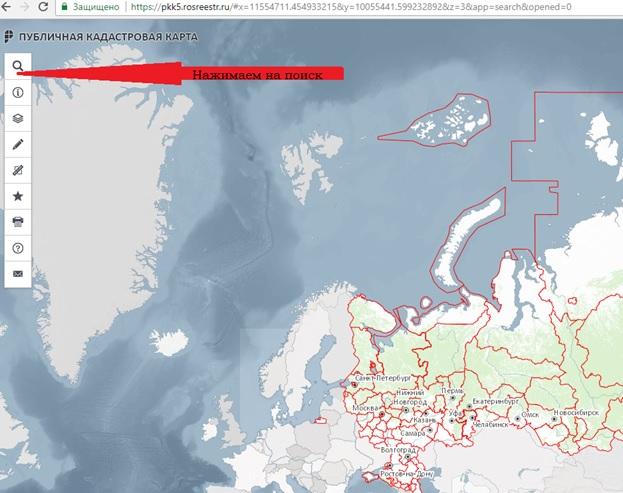 карта объектов недвижимости с кадастровыми номерами